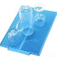 Tappetino per essiccazione di nuova piastra in silicone Tappetino tossico semplice pulito lavastoviglie per lavastoviglie a calore resistente al calore per il lavandino da cucina della cucina 201124