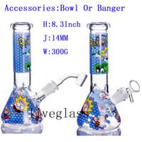 Vortex Glass Bong Online à vendre Swiss Perc Recycler Tuyaux d'eau Cire Tabac Huile de tabac DAB DAB Douche de douche Perc Narnovie Tuyaux 14.5mm