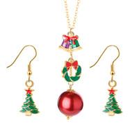 Jóias Bonito série Jóias Definidos Snowflake Bells Dangle Brincos Colar Hypoalergênico Presentes de Natal para Mulheres Meninas Feriado Jóias