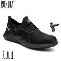 Roxdia Marke Plus Size 36-46 Stahl Toecap Männer Frauen Arbeit Sicherheitsschuhe Mode Lightweight Turnschuhe Casual Männliche Schuhe RXM124 Y200915