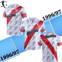 1996 97 الرجعية المنزل نهر كرة القدم الفانيلة francescoli salas crespo خمر مخصصة 96 97 قميص كرة القدم الكلاسيكية