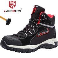 Обувь LARNMERN Steel Toe Работа безопасности для мужчин Anti-прокол SRA сопротивление скольжению Boots 201019