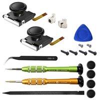19pcs set 3D Replacement Joystick Analog Thumb Stick for Nintend Switch Joy-Con Controller Screwdriver Repair Tools Kit FAST SHIP