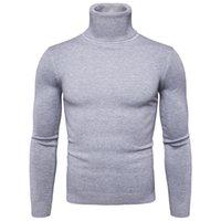 Favocent Winter Warme Rollkragenpullover Musee Mode Masselgestrickte Herren Pullover Casual Männlicher Doppelkragen Slim Fit Pullover 201124