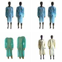 Non-Woven-Schutzkleidung Einweg-Isolation Kleider Kleidung Anzüge Outdoor-Antistaub-Einweg-Regenmäntel Sea Shipping ZZA2874