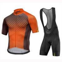 2020 Yeni Takım Mavic Bisiklet Jersey Önlüğü Şort Set Pro Erkekler Yaz Hızlı Kuru Yarış Giyim Bisiklet Kıyafetler Spor Bisiklet Üniforma K121807