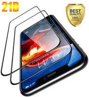 21D 풀 커버 강화 유리 전화 화면 보호기 iPhone 6 7 11 12 Pro Max XR XS Samsung Galaxy A11S A21S A501