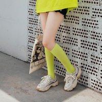Frauen Untere Knie Socken Oberschenkel Hohe Strümpfe Undurchsichtig Warme japanische Schüler Black Stripe Lange Baumwollsocke1