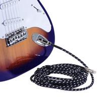 3 Metre / 10 Feet Elektro Gitar Kablo Bas Musical Enstrüman Kablo Kordon 1/4 inç Doğrudan Dik Açı Fiş Siyah