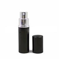 Bouteille de parfum 10 ml Mini Portable Portable Rembourrable Atomizer Atomizer Aluminium Voyageur Voyageur vides pour Cosmétiques LJJK2508-1