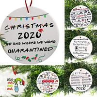 2020 apestaba hedor apestaba máscara del partido de Navidad Decoración de Santa Claus con la cara colgando colgante de Navidad del regalo del árbol ornamento personalizado CALIENTE
