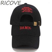 Шариковые шапки папа шляпа шляп шляпбенк бейсболка кепки Kendrick Ламар хип-хоп чертовски грузовика шляпы мужчин женщины черное повседневная летняя козырек регулируемый1