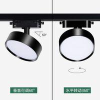 10W 15W 20W LED pista luce ferroviario Spotlight AC85-265V 2 fili 1 Fase soffitto dell'interno Lampade di memoria del negozio