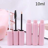 10ml rosa Lip Gloss tubi vuoti Lip Balm bottiglia vuota Eyeliner Mascara contenitore cosmetico imballaggio contenitore 3 stili DHL all'ingrosso libera