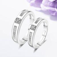 Casal um par de feminino mulheres simulação diamante anel de diamante temperamento de moda japão e sul korea 925 conjuntos de anéis