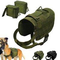 Tactical Dog Harness Mille Coll Colete Nylon Pet Training Harnesses para Cães Médios Grandes Cães Alemão Pastor K9 Exército G Bbyxwy