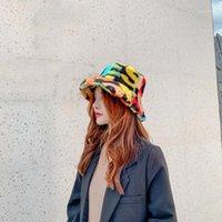 Sombreros de ala ancha de moda Hip Hop al aire libre multicolor multicolor del arco iris de la letra de la letra de la letra de la letra de la letra de la letra para las mujeres del invierno del invierno.
