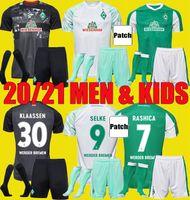 Hommes Enfants 2020 2021 SV Werder Bremen Troisième Soccer Jerseys Kits 20 21 Friedl Klaassen Selke Rashica Bartels Werder Bremen Home Football Shirts