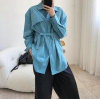 Frauenanzüge Blazers Frau Composite Faserhemd mit Strap1