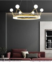 현대 럭셔리 유리 공 LED 크리 에이 티브 링 샹들리에 침실 거실을위한 조명 디자인을 조명 디자인