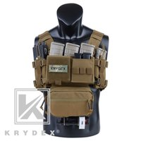 Krydex MK3 Tactical Classis Courn Rig Coyote Brown Mini Ranger Military Carrier Chaleco con bolsa de revistas para Airsoft Hunting 201215