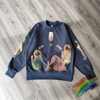 거품 인쇄 스웨터 남성 여성 1 고품질 까마귀 후드