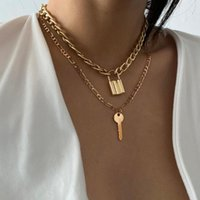 Men, women and children wear pendants and throats locked hip-hop cloaks, locked metal Keyrings, gifts Goth men, women