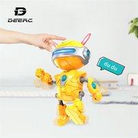 Deard RC роботы игрушки Мини говорят умный робот для детей образовательные игрушки для детей гуманоидный робот игрушечный смысл индуктивный RC Robot Y200413