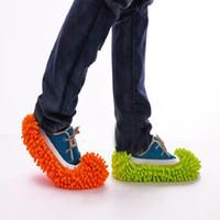 10 pares zapatos cubiertas trapeador zapatilla perezosa piso piso pulido limpieza fácil pie calcetín zapato cubierta trapeado perezoso zapato cove1