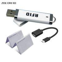 RF의 USB RFID 카드 판독기를 들어 안드로이드 미니 125KHz로의 TK4100 또는 13.56MHz의 MF NFC 휴대용 스캐너 유형 C