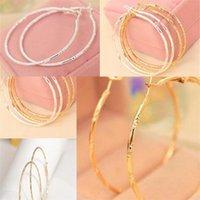 Pendientes de aro de knot de bambú 2020 Joyería de moda Pendiente de oro Pendiente de oro Partamentos de la oreja Círculo grande Huele a 0 49SD F2B