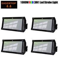 Patch de LED fase de desconto Preço 4 Unidade Gigertop Marca Stage Strobe Light 1000W Som Ativo Áudio 1000W RGB para KTV Disco 110V-220V