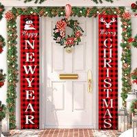 عيد ميلاد سعيد باب راية زينة عيد الميلاد لالمعلقة الرئيسية في الهواء الطلق عيد الميلاد الحلي هدايا عيد الميلاد نيفيداد السنة الجديدة