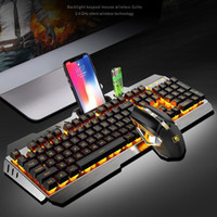 Wireless Mechanical Keyboard and Mouse Game Set Rechargeable...