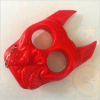 2021 Yeni Kaplan Kafası Anahtarlık Kaplan Kafası Plastik Çelik Parmak Kaplan Plastik Parmak Yüzük Mini Kız Öz Savunma Parmak Yüzük