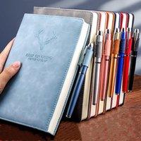 A5 Notebook Retro Diary Diary Notepad Littérature PU Cuir Note Remarque Papeterie Cadeau Voyageur Journal Planificiers Fournitures scolaires de bureau