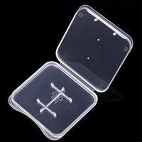 TF 메모리 마이크로 SD 카드 보호 상자 SD 카드 상자 울트라 얇은 투명 플라스틱 스토리지 박스 소매 패키지 케이스 SD 메모리 케이스