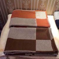12 ألوان رسالة الكشمير بطانية لينة الصوف وشاح شال المحمولة الدافئة منقوشة أريكة سرير الصوف محبوك رمي كيب بطانية عيد الميلاد بطانية W-00610