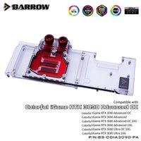 Barrow Water Block Utilizzo per colorato IGAME RTX 3090 ADVANCED OC / IGAME RTX 3080 Ultra OC GPU Header A-RGB Blocco di raffreddamento A-RGB1