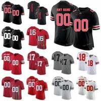 Benutzerdefinierte Ohio State Buckeyes College-Fußball-Trikots 1 Justin Felder 14 KJ Hill Jr. 15 Elliott 16 J. T. Barrett IV Männer Frauen Jugend genäht