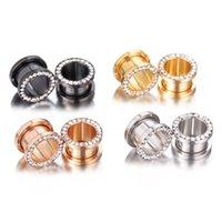 Stainelss de jauge d'oreille en acier Plug-Tunnels Flesh cristal oreille Strecher Expander Selle Piercing Oreja bijoux de corps Dilataciones