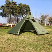 Big Pyramid Tent خفيفة التخييم Teepee 4Season خيمة الظهر مع موقد جاك الشتاء المظلات المأوى للطبخ birdwatch1
