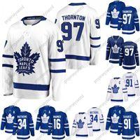 # 97 Joe Thornton Jersey Gençlik Lady Erkekler Toronto Maple Leafs 16 Mitchell Marner 91 John Tavares 34 Auston Matthew 88 William Nylander Formalar
