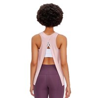 Wholesale Customized Women Workout Yoga Sport Tank Tops Sexy Back Hollow Out Compression Fitness Yoga Gym Vest Wear