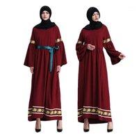Мусульманка для взрослых кружева вышивка абая арабская мода Турция ближневосточные исламские платья музыкальные халаты Рамадан одежда WJ675 Dropship1