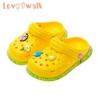 Lovewalk Bébé Bébé Croc Chaussures Été Cartoon Beach Beach Chaussures de baignade pour garçons Filles Soft antiddouleur Enfants Pantoufles pour enfants Q0112