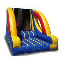Gancho e loop parede comercial pvc inflável saltando salto casa humano pegajoso parede e terno eventos ao ar livre com ventilador frete grátis