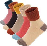 Bayan Yün Çorap Kış Yumuşak Sıcak Soğuk Örgü Yün Crew Çorap Kalın Örgü Rahat Kış Çorap Hediyeler