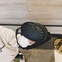 مصمم الاطفال الخصر حقيبة الفتيات إلكتروني المعادن رسول حقائب فاخرة النساء بو الجلود البسيطة bustbags a5137