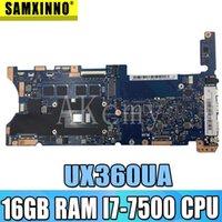 Akemy Top configurazione madre del computer portatile per Asus Q324UAK Q324UA Q324U UX360UA Mainboard 60NB0C00-MB8000 16 GB di RAM CPU -7500